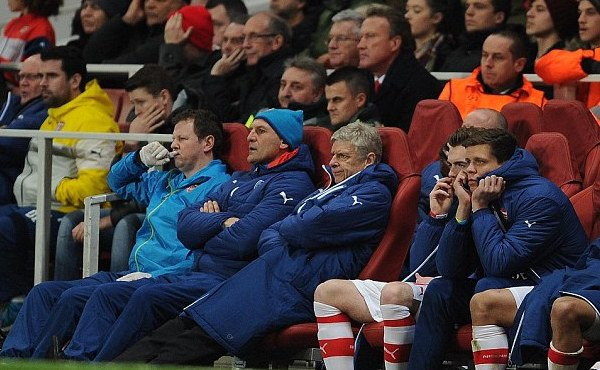 Arsenal bench